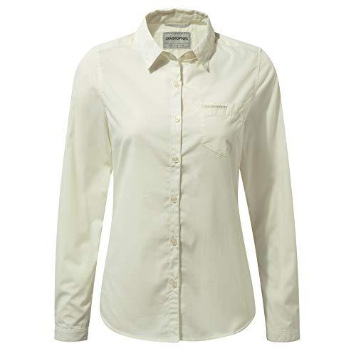 Craghoppers Damen Kiwi Long Sleeved Hemd,Creame(Sea Salz),34