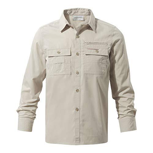 Craghoppers Jungen ADV Trek Langarm Shirt, Oatmeal, 152