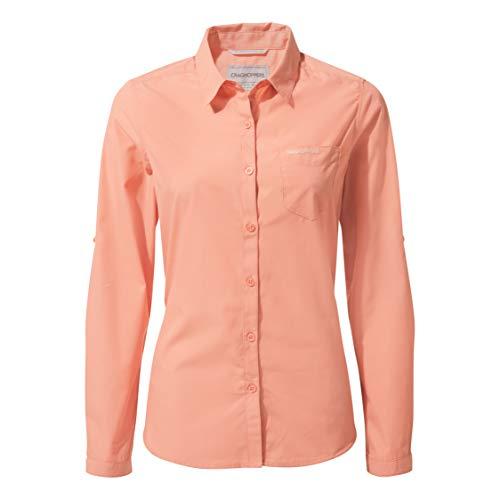 Craghoppers Damen Kiwi Long Sleeved Hemd,rosa(Rosette),38